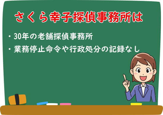 さくら幸子探偵事務所の信頼性と安全性